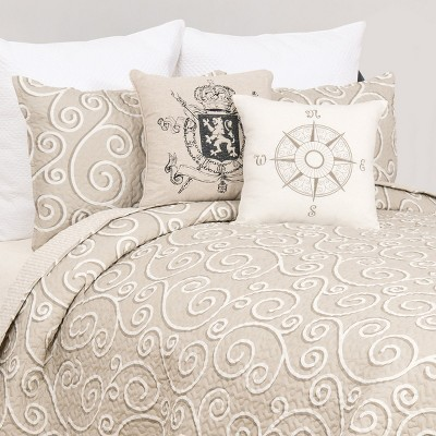 C&F Home Elmont Contemporary Scroll Quilt Mini Set