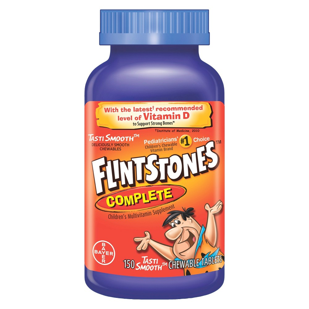 Flintstones Children's Complete Multivitamin Chewable Tablets - Fruit Flavors - 150ct, Kids Unisex