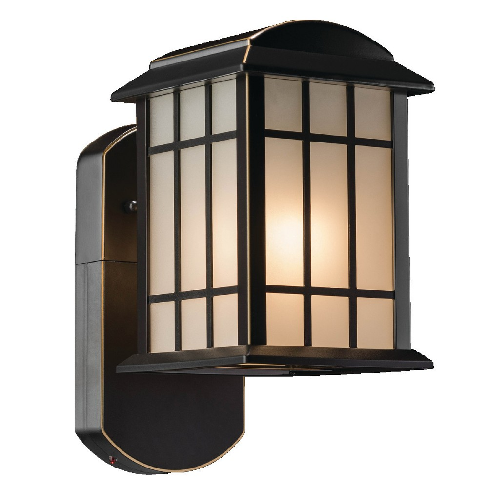 Image of Craftsman Companion Smart Security Outdoor Wall Light Bronze - Maximus, Golden Bronze