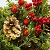 """Northlight 12"""" Pine Cones Berries and Boxwood in Twig Basket Christmas Tabletop Decoration - image 2 of 3"""