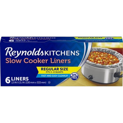 Reynolds Kitchens Regular Size Slow Cooker Liners - 6ct