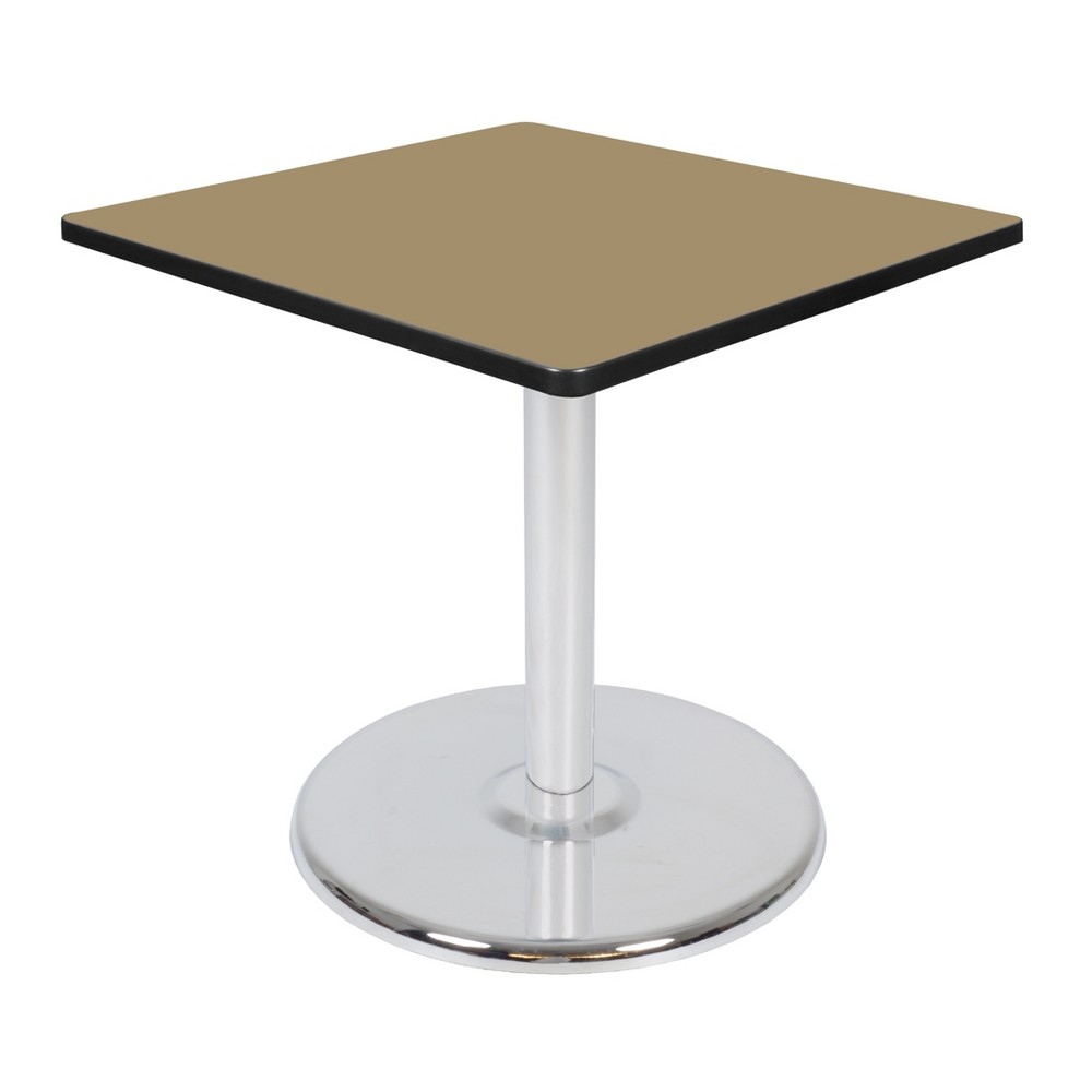 30 Via Square Platter Base Table Gold/Chrome (Gold/Grey) - Regency