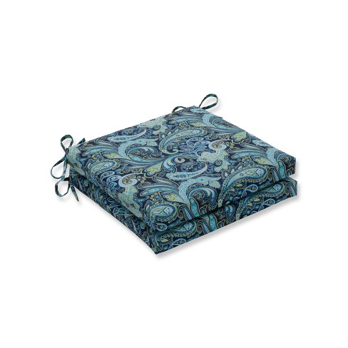 Pretty Paisley 2pc Indoor/Outdoor Squared Corners Seat Cushion - Pillow Perfect - image 1 of 1