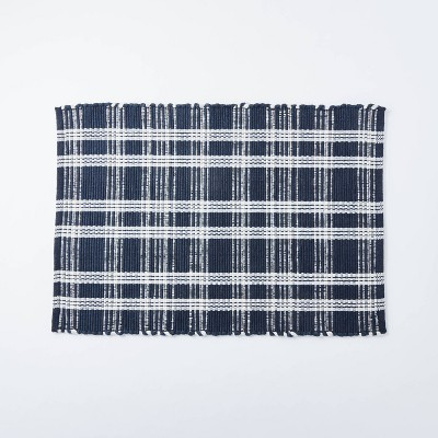 2'x3' Windsong Indoor/Outdoor Plaid Scatter Rug Navy - Threshold™ designed with Studio McGee