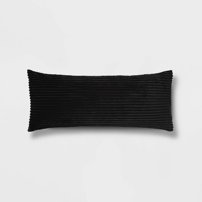 Solid Ribbed Body Pillow Cover - Room Essentials™