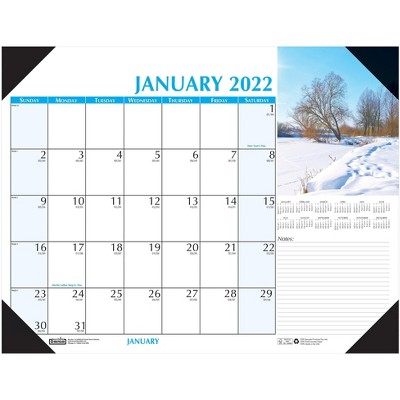 "House of Doolittle 2022 17"" x 22"" Desk Calendar Earthscapes Scenic Multicolor 147-22"