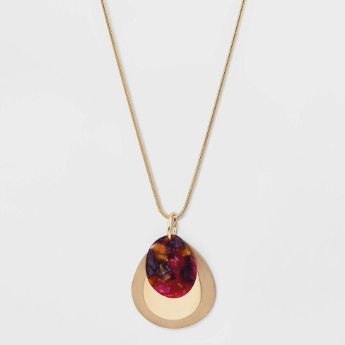 Drops Long Necklace - A New Day™ Gold - image 1 of 3