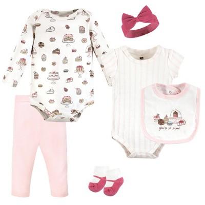 Hudson Baby Infant Girl Cotton Layette Set, Sweet Bakery