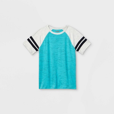 Boys' Short Sleeve Baseball T-Shirt - Cat & Jack™ Teal/Gray
