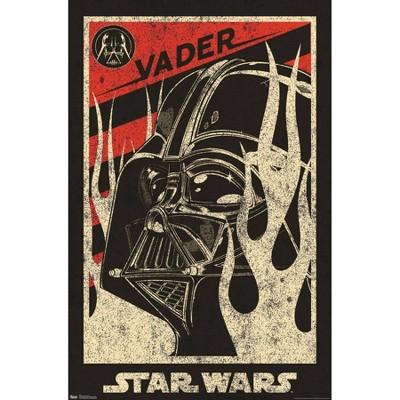 """34"""" x 22"""" Star Wars: Saga Vader Propaganda Unframed Wall Poster - Trends International"""