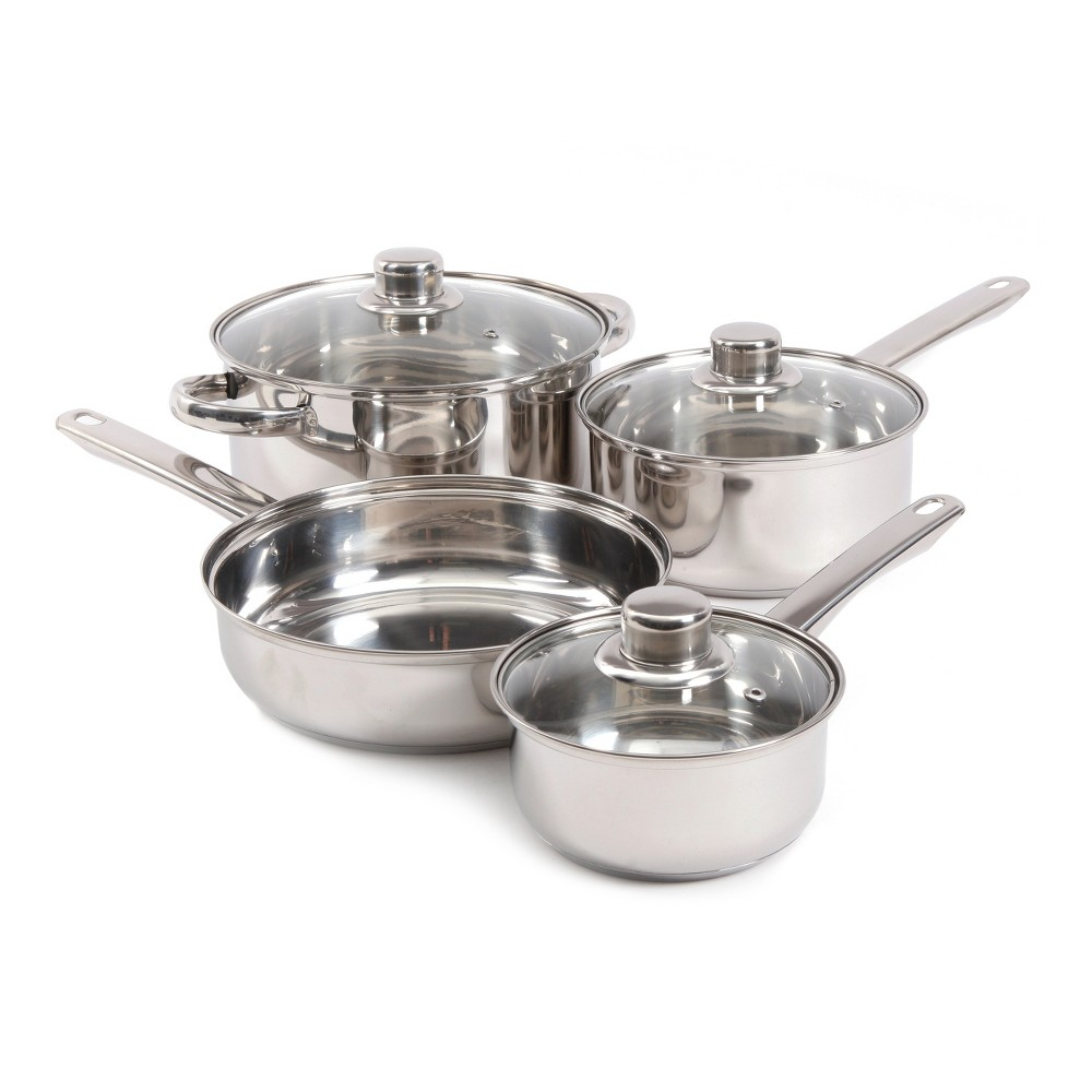 Gibson Home Landon 7pc Cookware Set, Silver