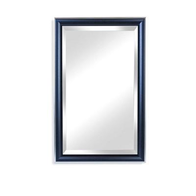 "25.5"" x 40.5"" Cypress Black/Silver Framed Beveled Glass Wall Mirror - Alpine Art and Mirror"