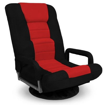 Best Choice Products 360-Degree Swivel Gaming Floor Chair w/ Armrest Handles, Foldable Adjustable Backrest