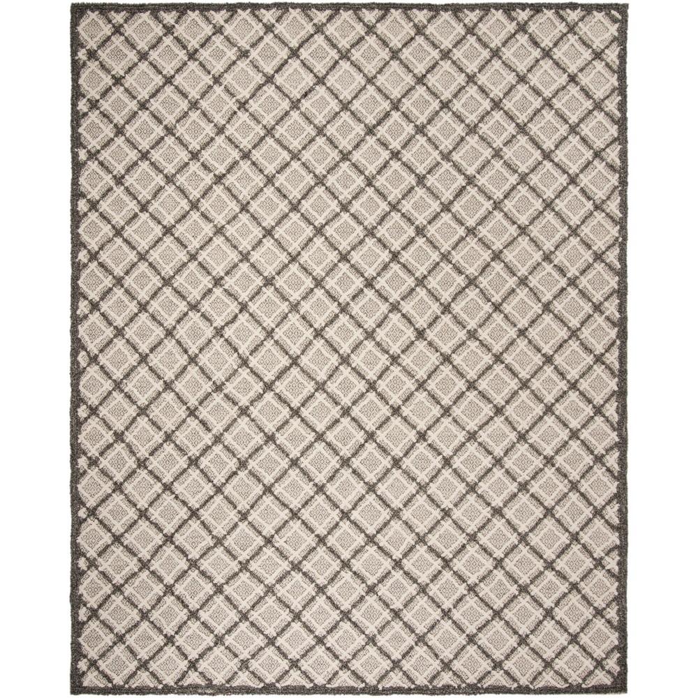 9'X12' Geometric Tufted Area Rug Gray - Safavieh