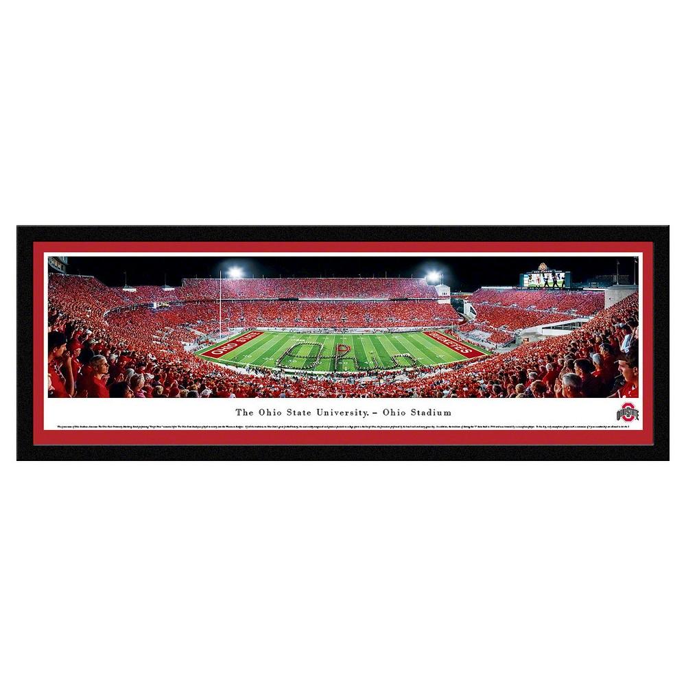 NCAAOhio State Buckeyes BlakewayFootball Stadium View Framed Wall Art, Ohio State Buckeyes