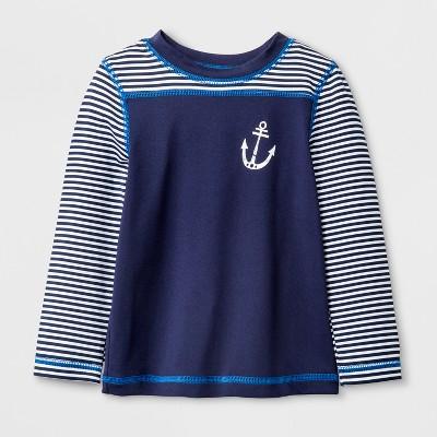 Baby Boys' Long Sleeve Anchor Rash Guard - Cat & Jack™ Navy 12M