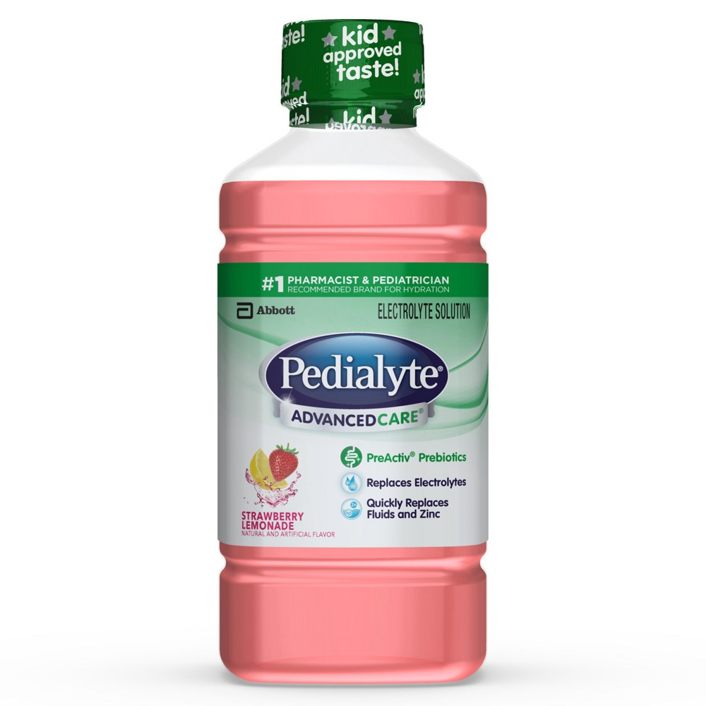 Pedialyte Advanced Care Electrolyte Drink Strawberry Lemonade - 33.8oz Pedialyte Advanced Care Electrolyte Drink Strawberry Lemonade - 33.8oz