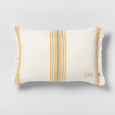 Bloom Reversible Throw Pillow Cream / Yellow - Hearth & Hand™ with Magnolia