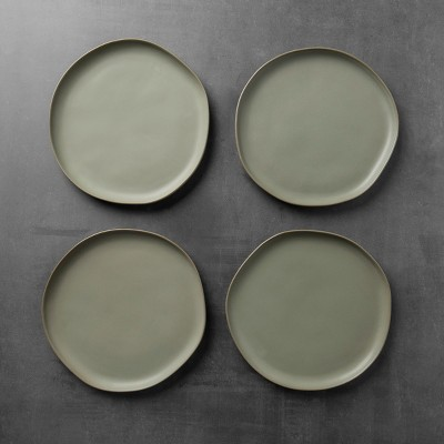 Stoneware Dinner Plate Set of 4 - Green - Hearth & Hand™ with Magnolia