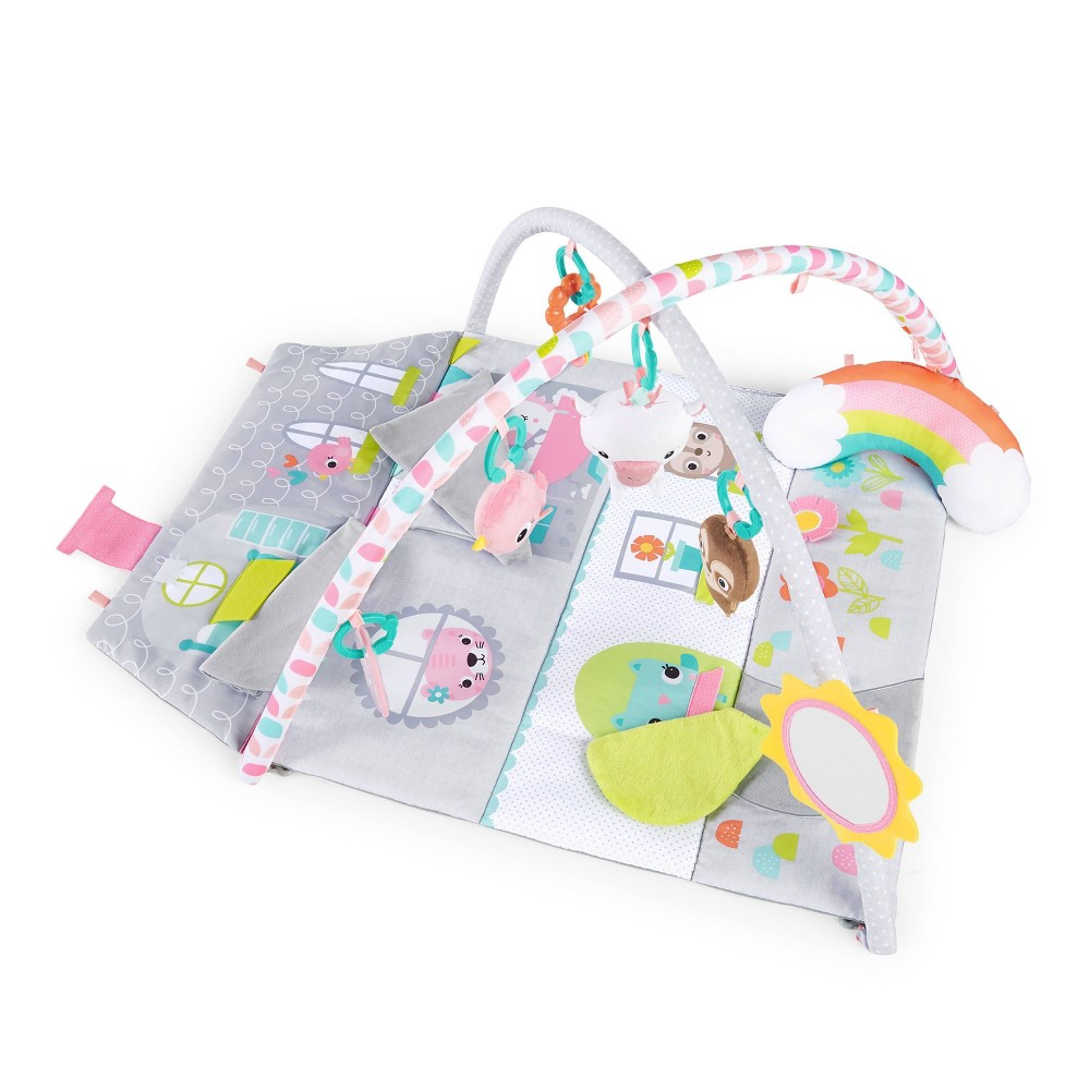 Image of Bright Starts Floors of Fun Activity Gym & Dollhouse, Pink