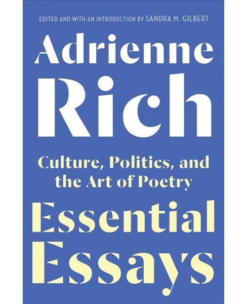 Image result for adrienne rich essential essays