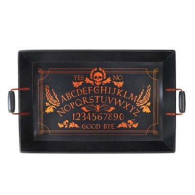 Halloween Skull Wood Serving Tray Orange - Hyde and Eek! Boutique™