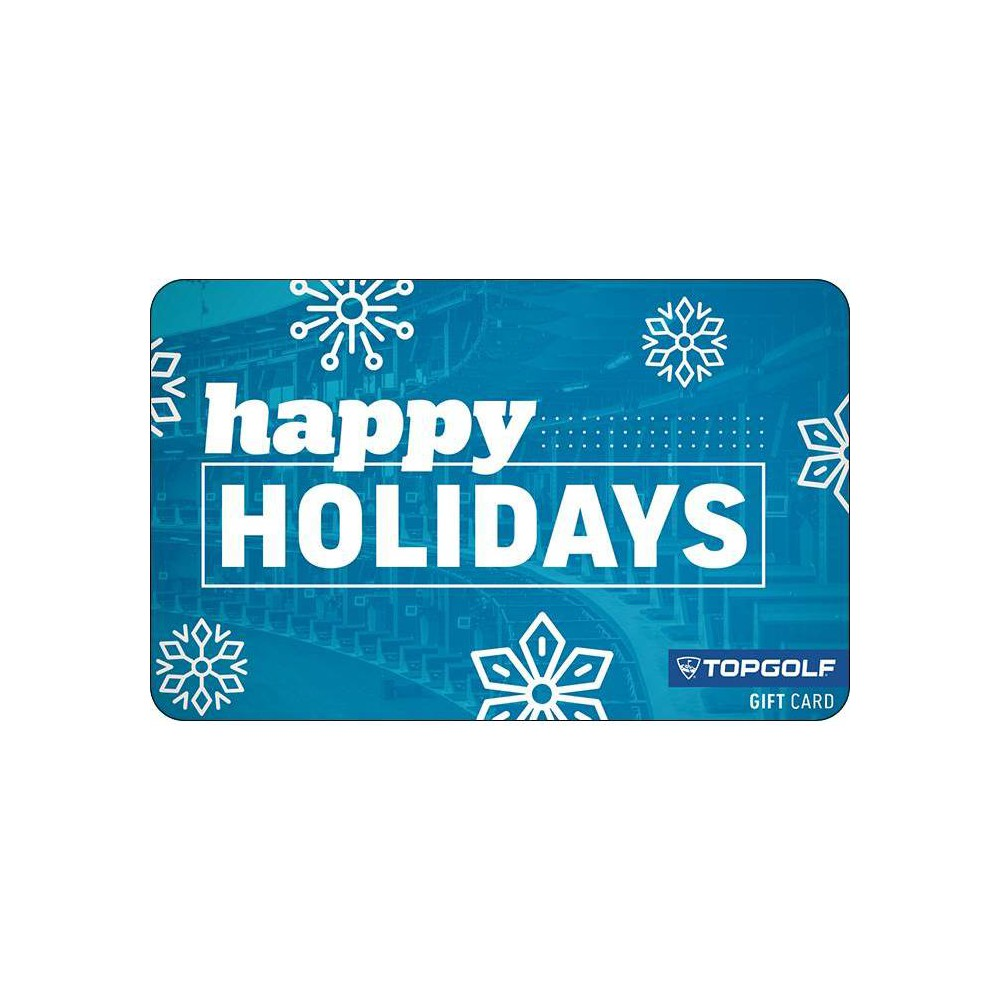 Topgolf Holiday Gift Card 25 Email Delivery