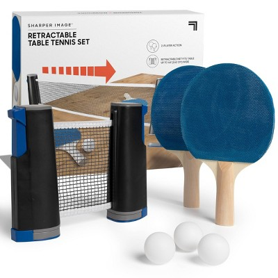Sharper Image Table Top Tennis Retractable Go Anywhere Game