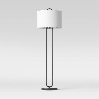 Floor Lamp Metal (Includes LED Light Bulb) Black - Project 62™