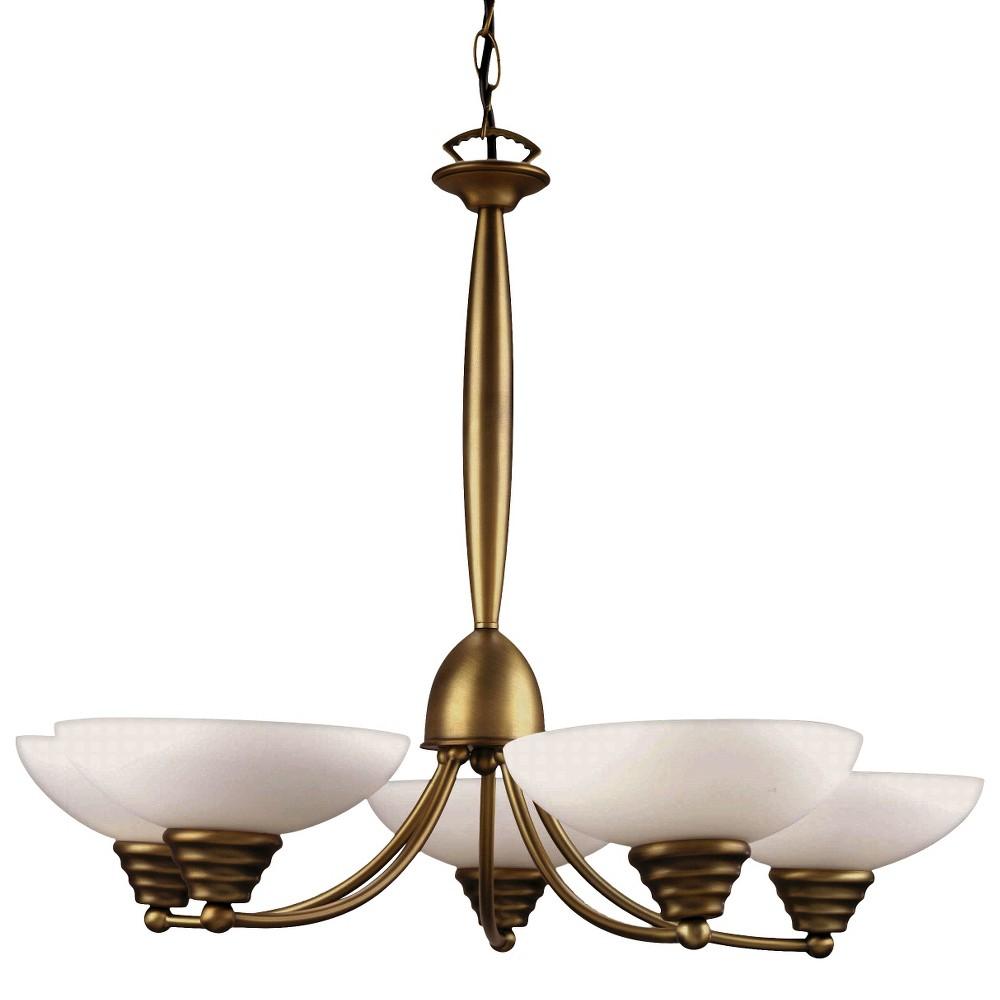 Lite Source Maestro 5 Light Chandelier Ceiling Light - Gold