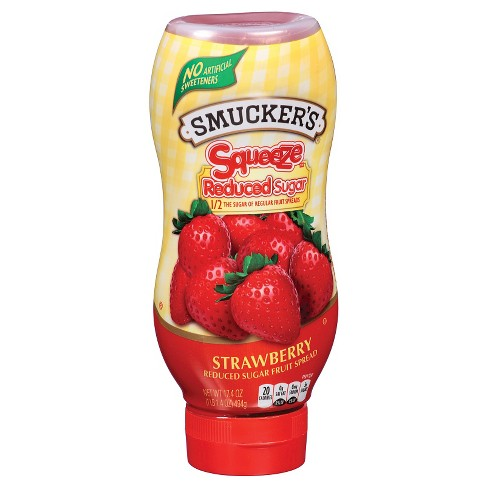 Smucker's® Squeeze Reduced Sugar Strawberry Fruit Spread - 17.4oz - image 1 of 1
