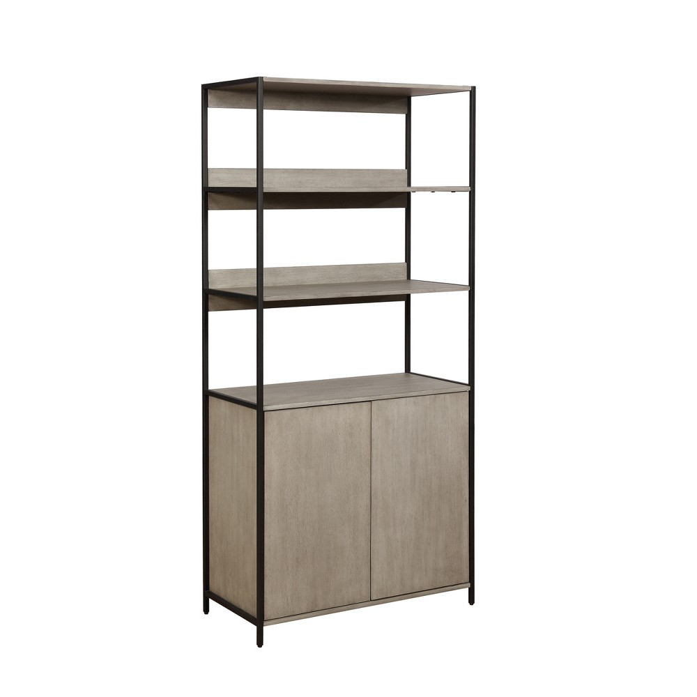 Aberdeen 2 Door Wood Shelf Sand Gray - miBasics