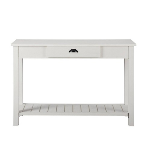 June Rustic Farmhouse Entry Table with Lower Shelf - Saracina Home - image 1 of 4