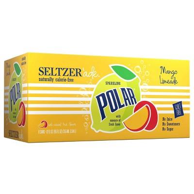 Polar Seltzerade Mango Limeade - 8pk/12 fl oz Cans