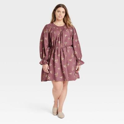 Women's Long Sleeve Tent Dress - A New Day™