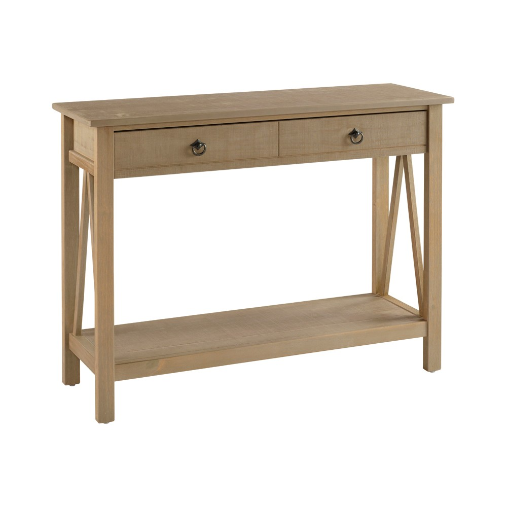 Titian Console Table Driftwood (Brown) - Linon
