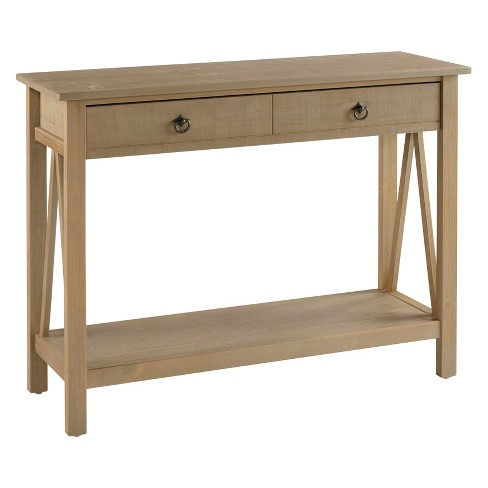 Titian Console Table Driftwood - Linon - image 1 of 2