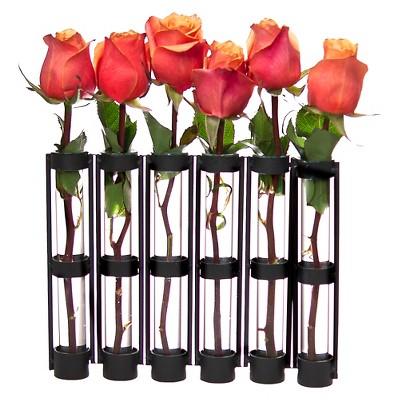 Six Tube Hinged Vase