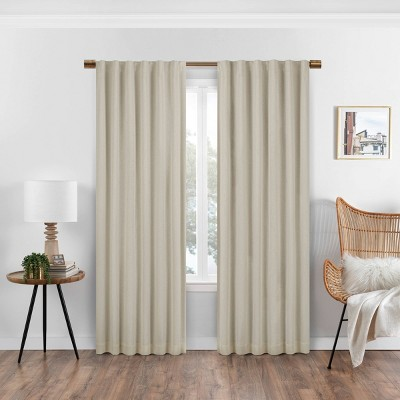 Nora Solid Absolute Zero Blackout Curtain Panel - Eclipse