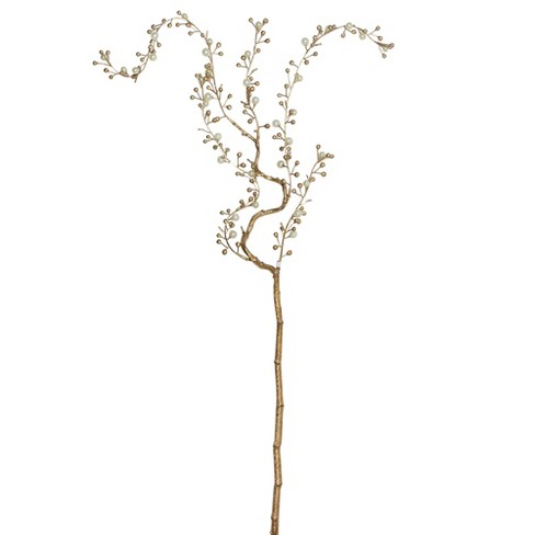 "Northlight 39"" Gold/White Willow Artificial Branch Spring Spray - image 1 of 3"
