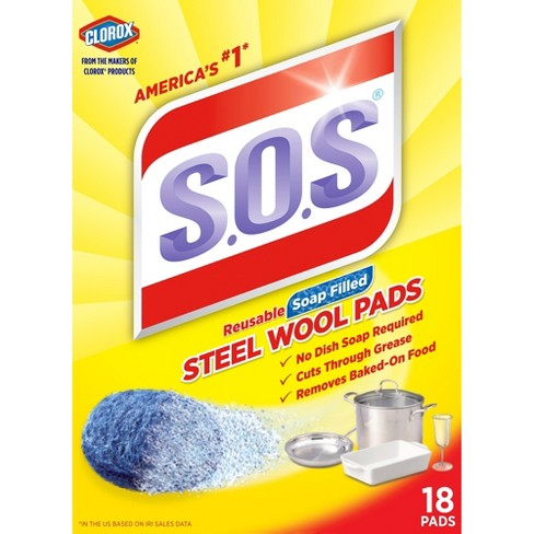 S.O.S Steel Wool Soap Pads 18 Ct - image 1 of 4