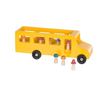 Remley Wooden Toy School Bus with Little People CPSIA Kid Safe Finish