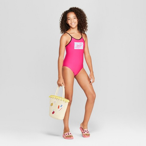 3a006f243ba2f Girls' Flip Sequins JoJo Siwa One Piece Swimsuit - Pink : Target