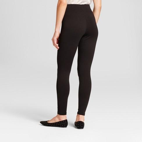8c22f44d667e07 Women's High Waist Ponte Leggings - A New Day™ Black : Target