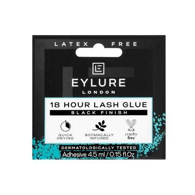 Eylure 18 Hour Latex Free Glue False Eyelashes Black - 0.15oz
