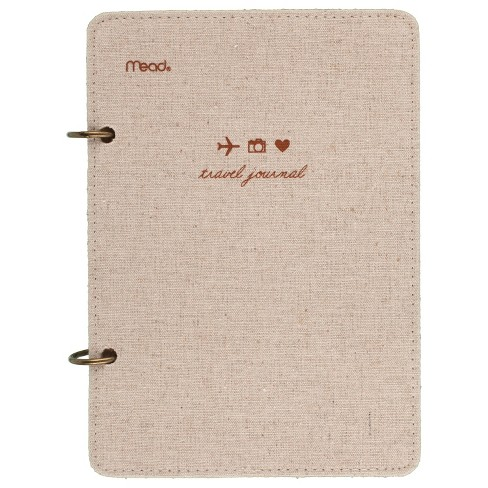 """Mead 2 Ring Journal, Lined and Plain Paper, 120 sheets, 6"""" x 8.5"""" - Travel Stamp Design - image 1 of 4"""