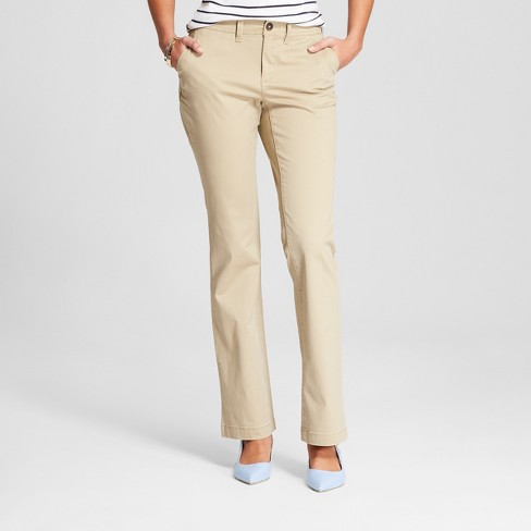 Women's Boyfriend Chino Pants - A New Day™ - image 1 of 3