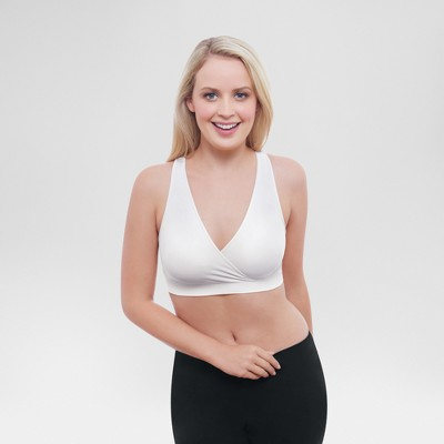 Medela® Women's Nursing Crossover Sleep Bra - White S