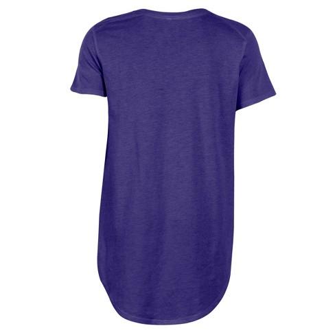 LSU Tigers Women s Heathered Crew Neck Tunic T-Shirt   Target ac8843164