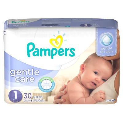 Pampers Gentle Care Diapers, Jumbo Pack - Size 1 (30 ct)